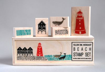 YOW_beach stamp set