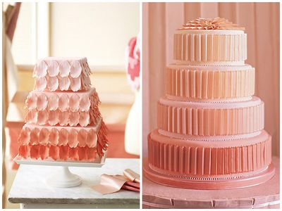 Ombre wedding cakes _ petals _ pleats