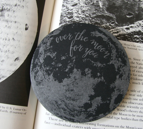 Blackbird letterpress_moon