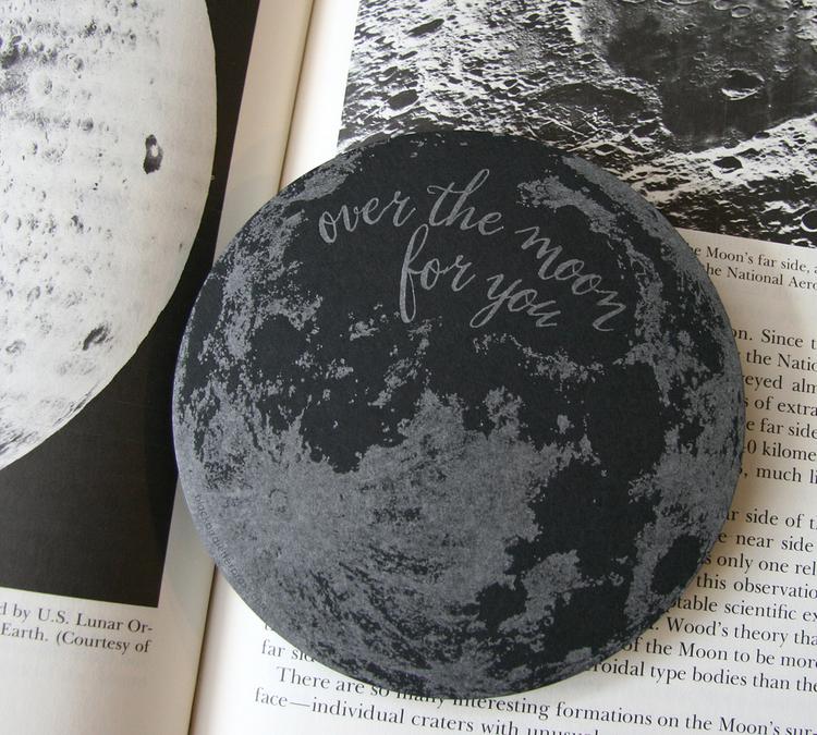 Blackbird letterpress_moon